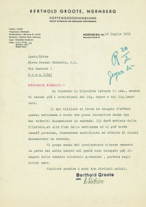 Corrispondenza per personale birrario 1939