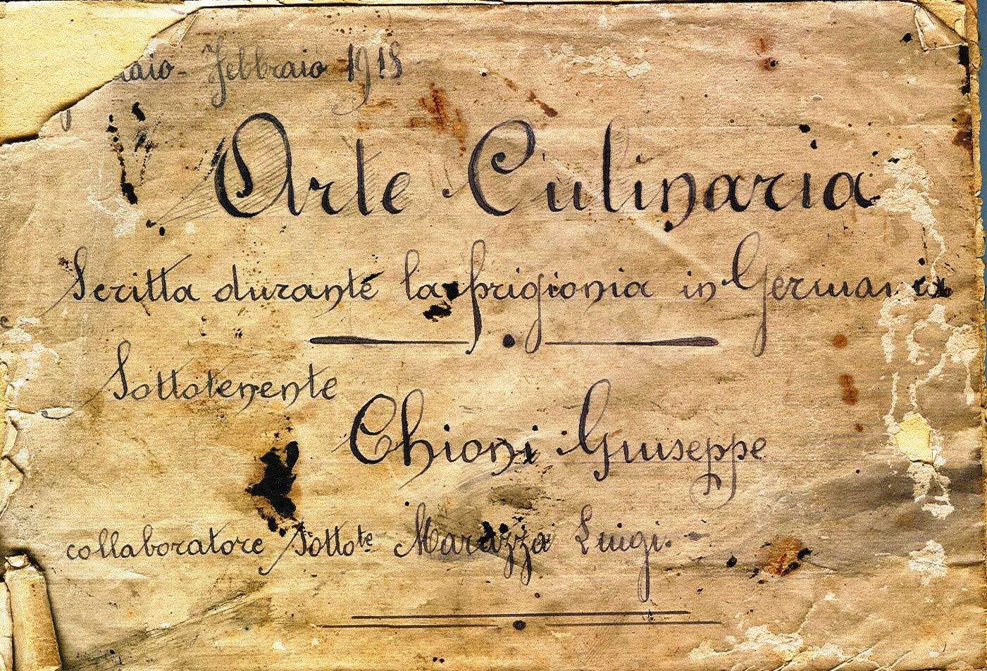 Ricettario-Chioni-da-campo-concentramento-CELLELAGER1918